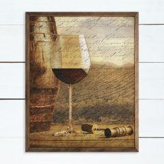 Script Wine Barrel Print Wall Art