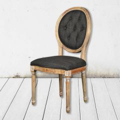 Tufted Wood Side Chair
