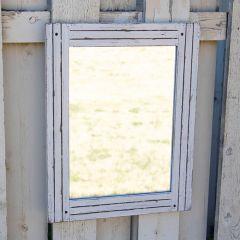 Charming Rustic Wood Frame Mirror