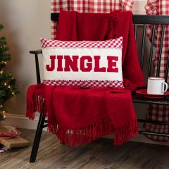 Check Jingle Pillow