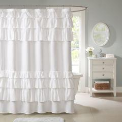 Chic Elegance Ruffled Shower Curtain