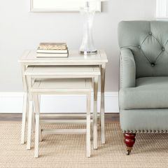 Chic Farmhouse Stacking Tray Nesting Tables Set of 3