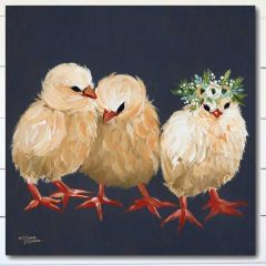 Chick Trio Wrapped Canvas Wall Art