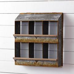 Chicken Coop Wall Bins