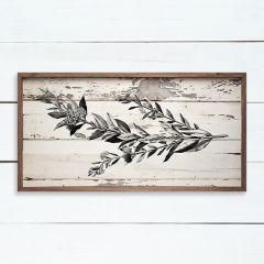 Chippy Floral Stem Framed Wall Art