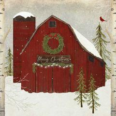 Christmas Barn Farmhouse Wall Art