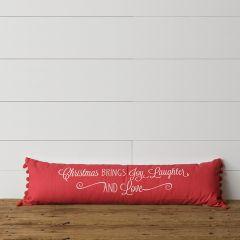 Christmas Brings Joy Decorative Lumbar Pillow