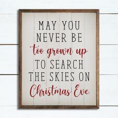 Christmas Eve Whimsical Wall Sign