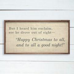 Christmas Poem Wall Sign