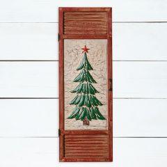HUGE Christmas Tree Shutter Panel