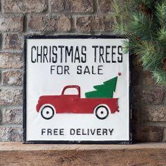 Christmas Trees For Sale Metal Sign