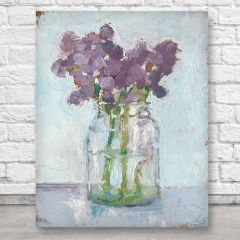 Classic Clear Vase With Flowers Wall Art