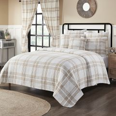 Classic Country Wheat Plaid Coverlet