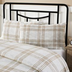 Classic Country Wheat Plaid King Pillow Sham Set of 2