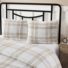 Classic Country Wheat Plaid Standard Pillow Sham Set of 2