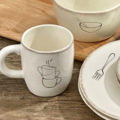 Classic Cream Farmhouse Mug Bundle