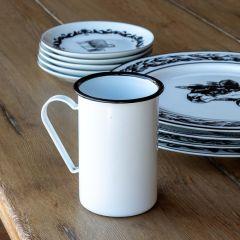 Classic Enamel Coffee Mug Set of 2