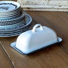 Classic Farmhouse Enamelware Butter Dish