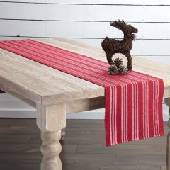 Classic Holiday Striped Table Runner