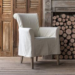 Classic Slip Covered Accent Chair