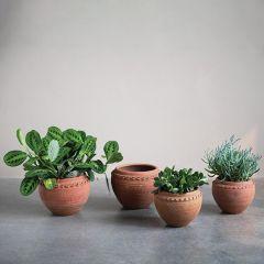 Classic Textured Terracotta Planter Pot