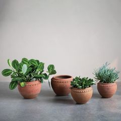 Classic Textured Terracotta Planter Pot One of Each