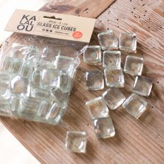 Clear Glass Decorative Ice Cubes 6 Packs