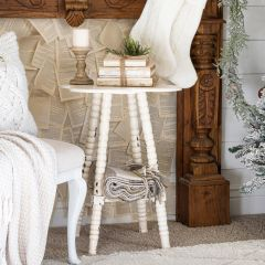 Clover Shaped Spindle Leg Accent Table