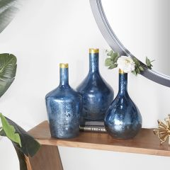 Coastal Living Glass Bottle Vase Set of 3
