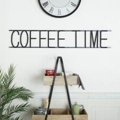 Coffee Time Metal Wall Decor