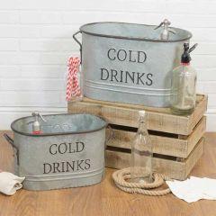 COLD DRINKS Beverage Tub, Set of 2