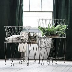 Collapsible Wire Farmhouse Basket Stand One of Each