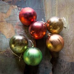 Colorful Ball Ornaments Set of 6