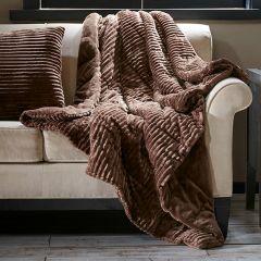 Corduroy Plush Down Throw Blanket