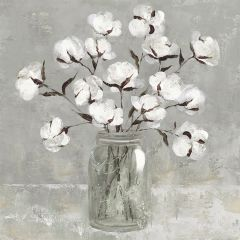 Cotton In A Canning Jar Wall Art