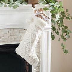 Cotton Knit Christmas Stocking, Set of 2
