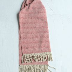Cotton Red And White Table Runner