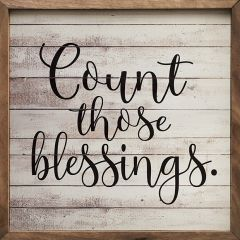 Count Those Blessings Rustic Wall Sign
