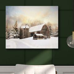 Country Barn Winter Wall Art