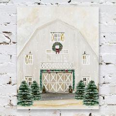 Country Christmas Barn Wall Art