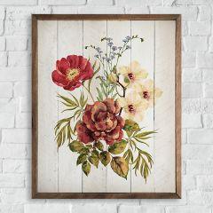 Country Flower Bouquet Wall Art