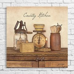 Country Kitchen Canvas Wall Art