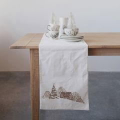 Country Winter Cotton Table Runner
