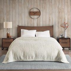Cozy Berber Ivory Bed Blanket