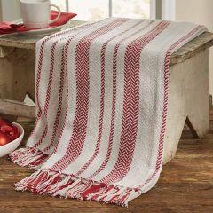Cozy Candy Stripe Fringed Throw Blanket
