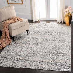 Cream/Gray Patterned Area Rug