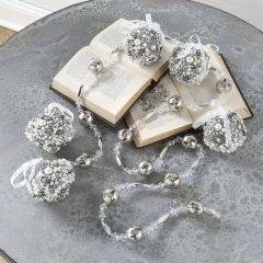 Crystal And Silver Festive Bell Garland