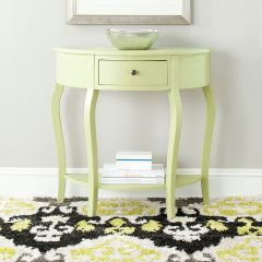 Curved Leg Demilune Accent Table