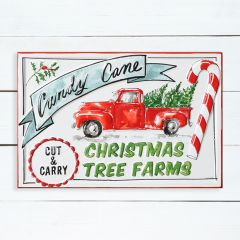 Cut and Carry Christmas Tree Farms Tin Sign