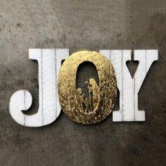 Cutout JOY With Gold Center Nativity